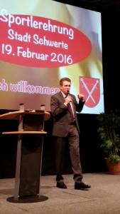 Jörg Przystow-Moderation der Schwerter Sportlerehrung