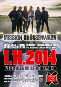 "Plakat Undercover Crew 20 Jahre ""On Stage"""