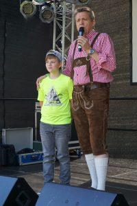 Ryan Schubert mit Moderator Jörg
